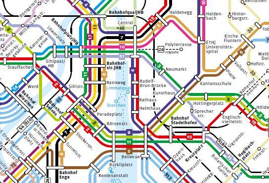 VBZ Linienplan